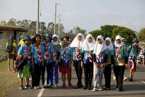 Indonesian Scouts at the Australian Jamboree, 2013.