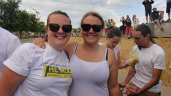 Together 2014: Caitlin and Alison before Holy Saints Festival