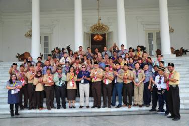 The workshop team at the Bogor Presidential Palace